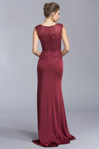 V-neck Cute Long Dresses APL1981-Prom Dresses-smcfashion.com