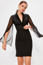 Load image into Gallery viewer, Flanna Sheer Sleeve Party Dress