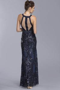 Elegant Halter Long Gowns APL2002-Evening Dresses-smcfashion.com