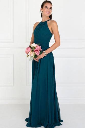 Halter A-line Long Gown Gowns With Open Back GSGL1524-Evening Dresses-smcfashion.com