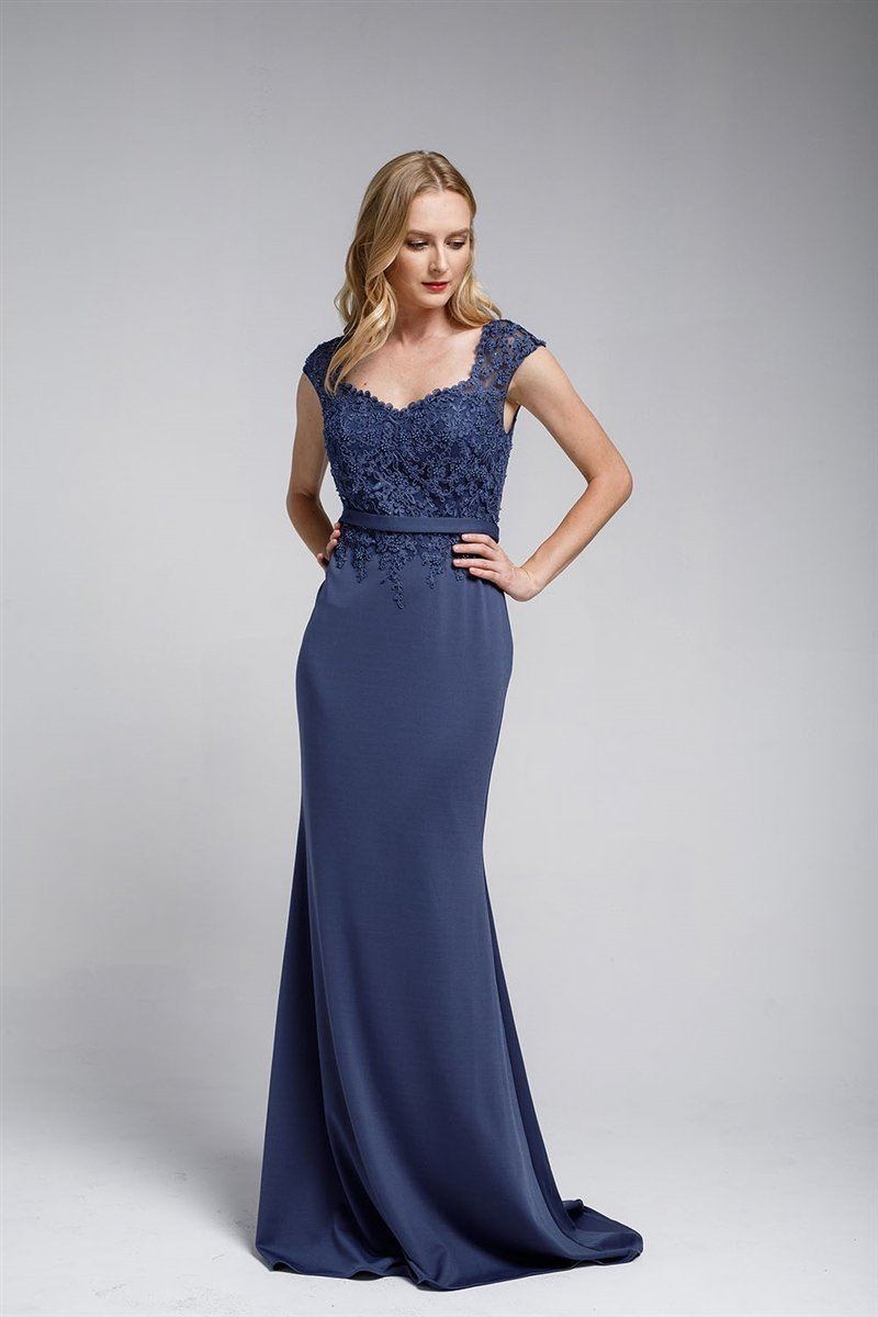 Wholesale Long Mother Of The Bride Sheath Shape Evening Formal Dress AC783-Mother of the Bride Dresses | Smcfashion.com-smcfashion.com