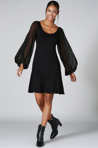 Coming Through Bishop Sleeve Party Dress