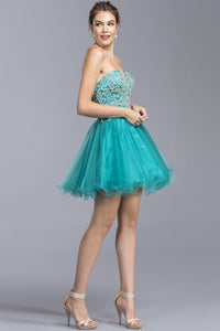 A-line Cocktail Short Gowns With Open Back APS2053-Homecoming Dresses-smcfashion.com
