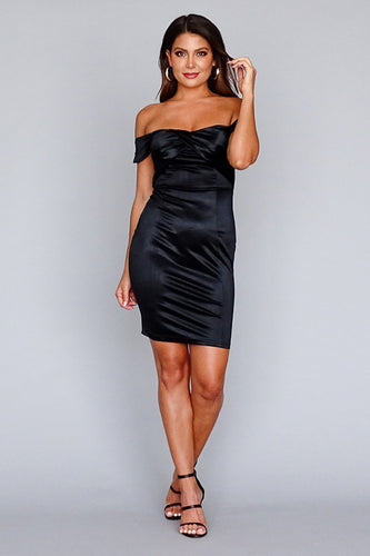 Sassy Satin Party Dress