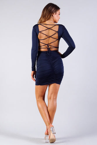 The Lattice Fix Bodycon Dress