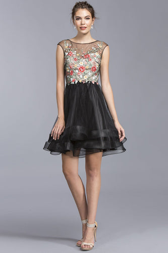 Illusion Homecoming Beautiful Short Dresses APS1922-Party Dresses-smcfashion.com