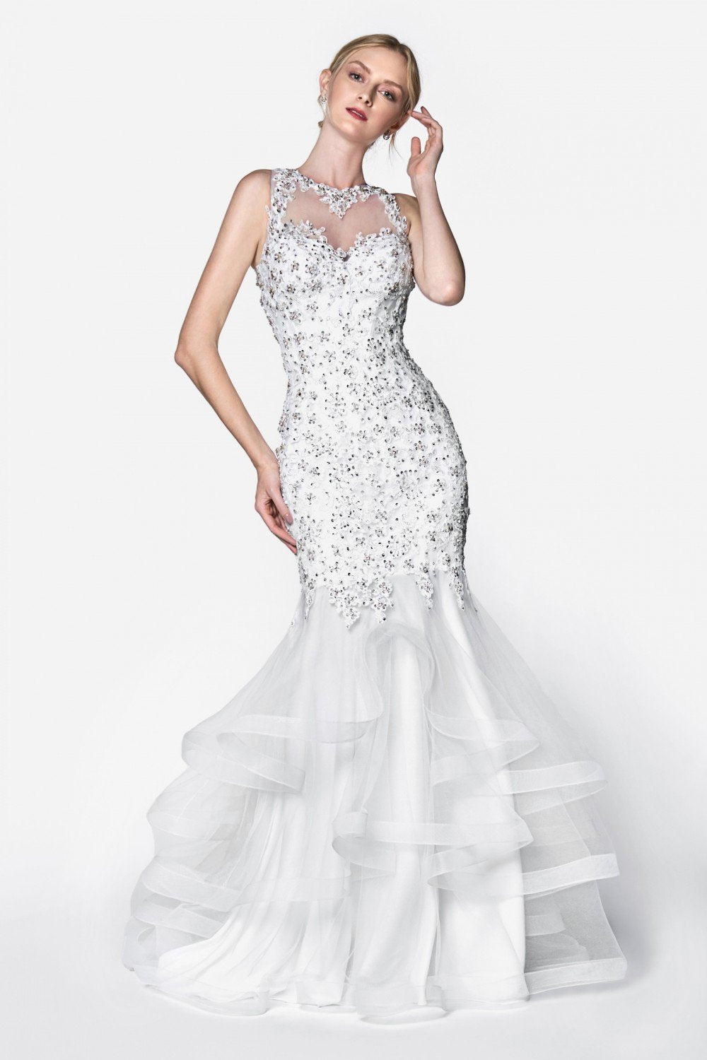 Essence Beaded Mermaid Wedding Gown
