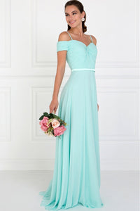 Sweetheart Floor Length Gowns With Straps GSGL1523-Prom Dresses-smcfashion.com