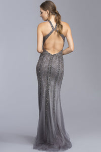 Beautiful Halter Long Formal Gowns APL2022-Evening Dresses-smcfashion.com