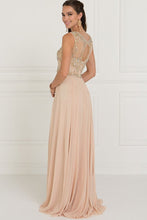 Load image into Gallery viewer, Illusion A-line Cute Long Gowns GSGL1565-Prom Dresses-smcfashion.com