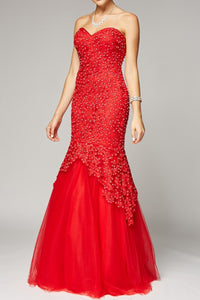 Women Long Beaded Evening Formal Mermaid Beautifull Dress Gown JT644-smcfashion.com