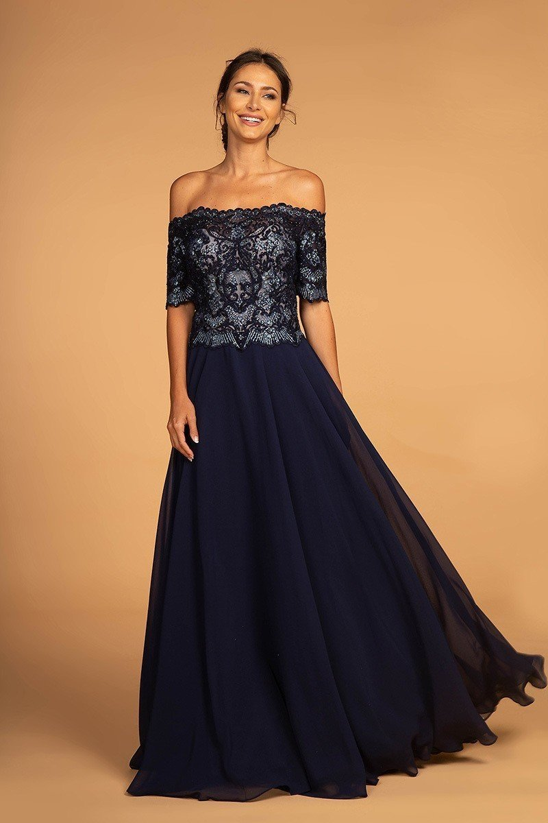 Wholesale Mother Of The Bride Off The Shoulder Gown Dress GSGS2525-Mother of the Bride Dresses | Smcfashion.com-smcfashion.com