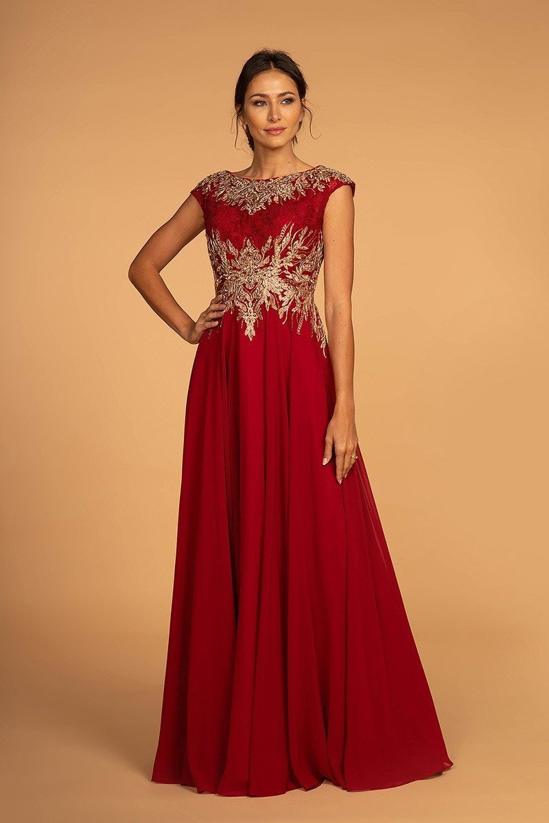 Wholesale Evening Formal Mother Of The Bride Long A-Line Long Dress GSGL2519-Evening Dresses | Smcfashion.com-smcfashion.com