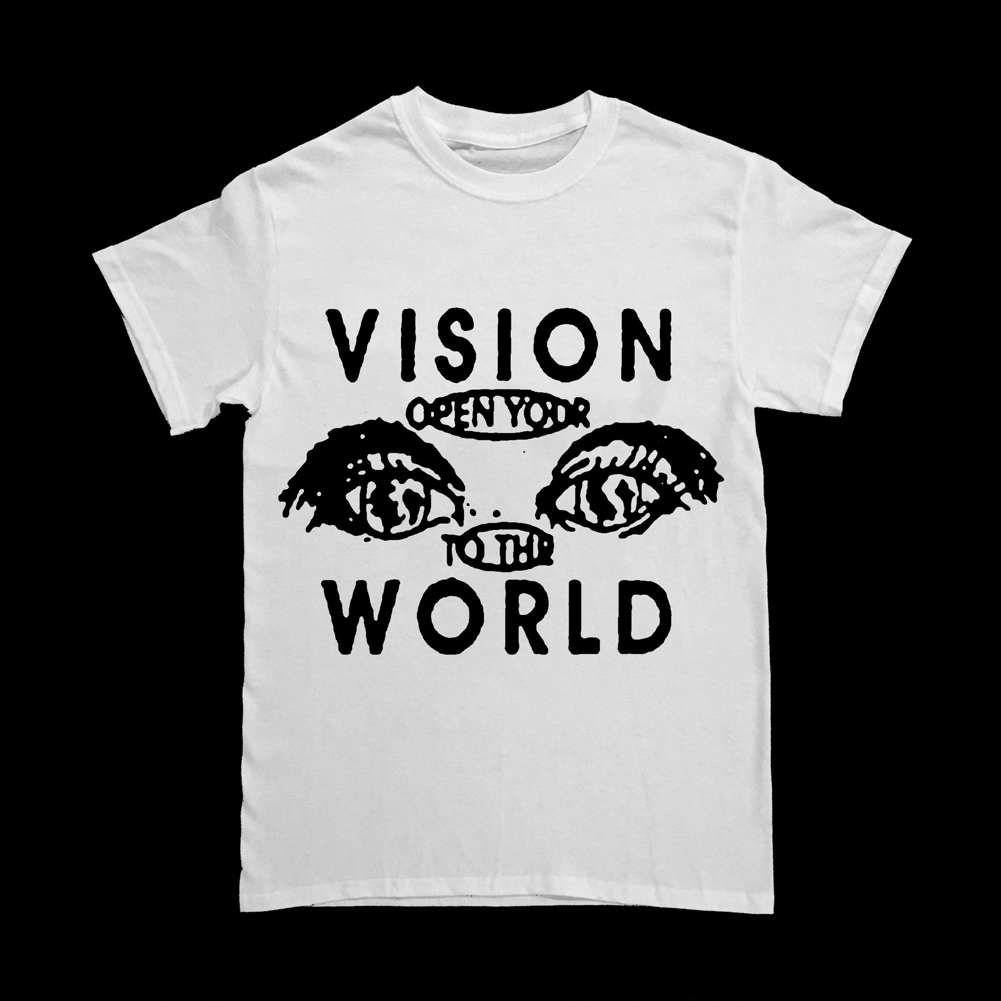 """Open Your Eyes to the World"" T-shirt by Jen Shear"