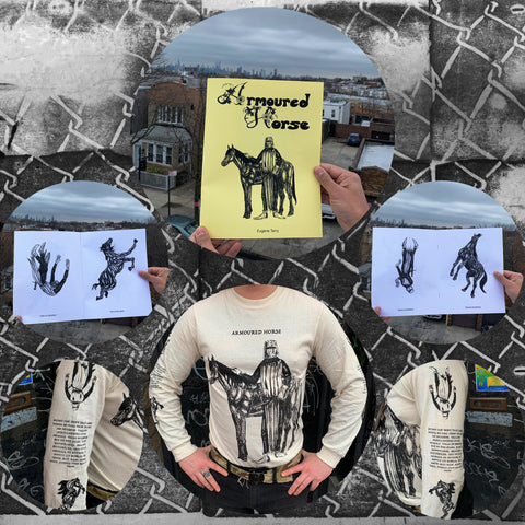 ARMOURED HORSE zine and long sleeve shirt by Eugene Terry