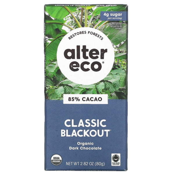 Alter Eco Black Out Dark Chocolate Bar 80g 80g