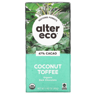 Coconut Toffee Chocolate Bar 80g
