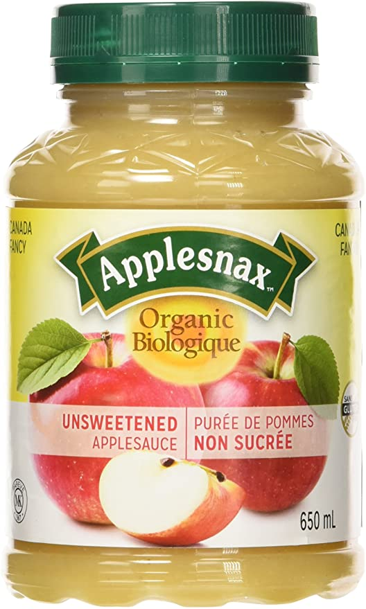 Applesnax Apple Sauce Unsweetened Organic 650ml 650ml