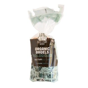 Organic Bagels Everything 450g
