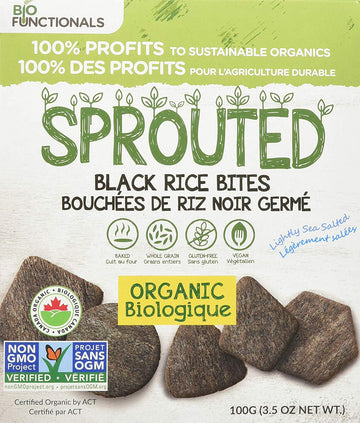 Black Rice Organic Sprouted Bites 141.7g