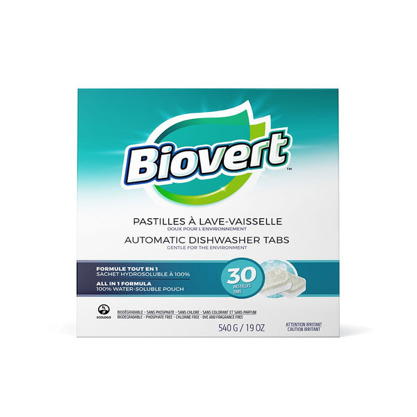 Biovert Dishwasher Tabs Fragrance Free 30ct 30ct