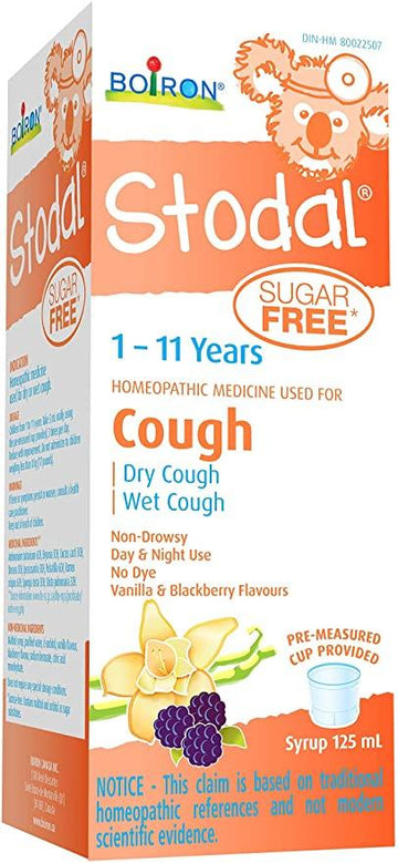 Stodal Cough Syrup 1-11 Years Sugar Free 125ml