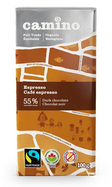 Espresso Dark Chocolate Organic 100g