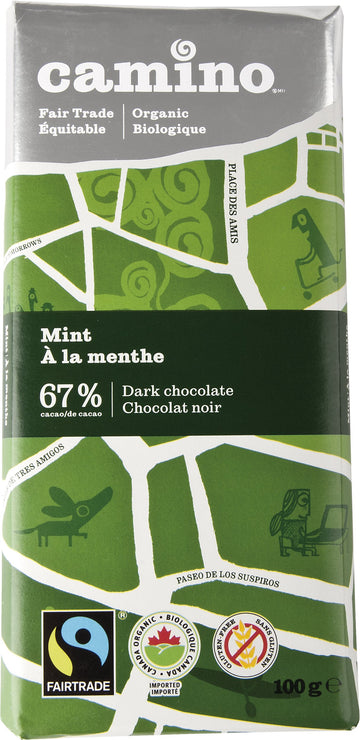 Mint 67% Chocolate Organic 100g