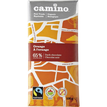 Orange Dark Chocolate Organic 100g