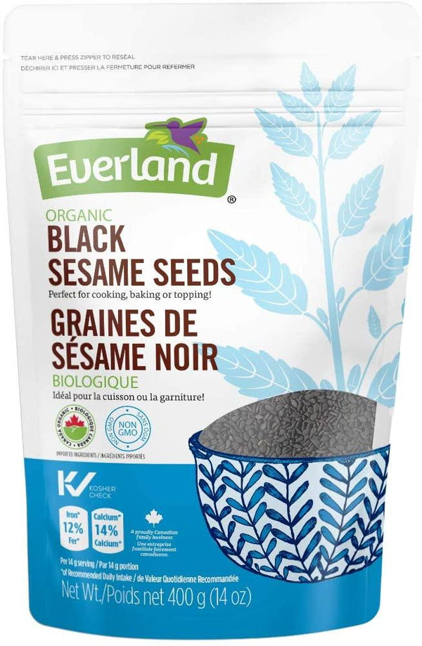 Everland Organic Black Sesame Seeds 400g 400g