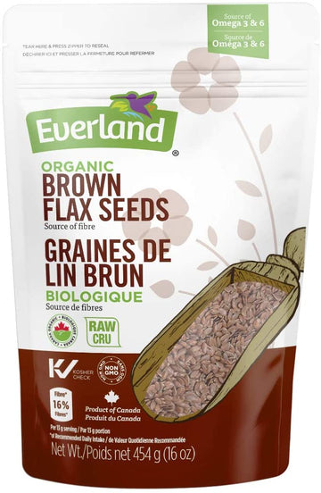 Organic Brown Flax Seeds 454g