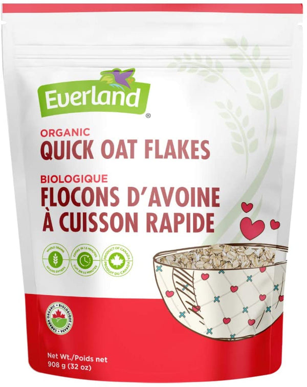 Everland Quick Rolled Oats Organic 908g 908g