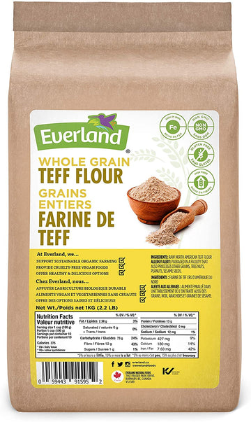 Teff Flour Whole Grain 1kg