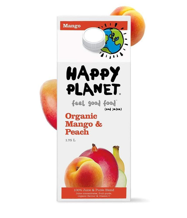 Happy Planet Mango & Peach Organic Juice 1.75L 1.75L