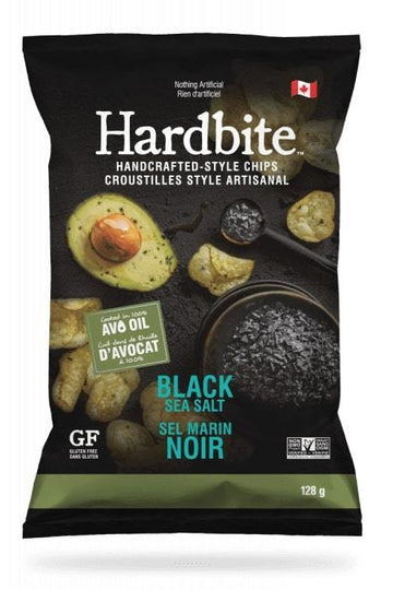 Avocado Black Salt Hardbite Kettle Chips 128g