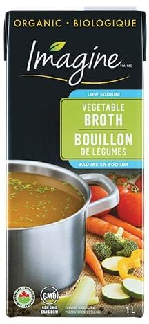 ImagineFoods Vegetable Broth Organic Low Sodium 1L 1L