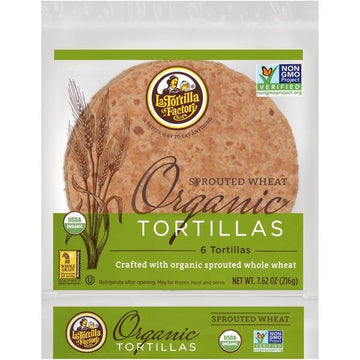 Organic Sprouted Wheat Tortillas 216g