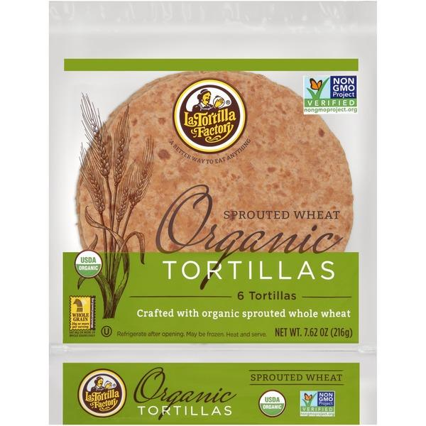 La Tortilla Organic Sprouted Wheat Tortillas 216g 216g