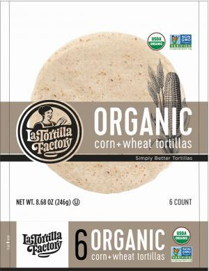 Organic White Tortillas 216g