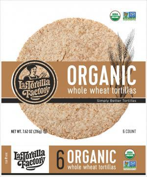 Organic Whole Wheat Tortillas 216g