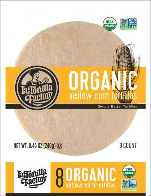 Organic Yellow Corn Tortillas 240g