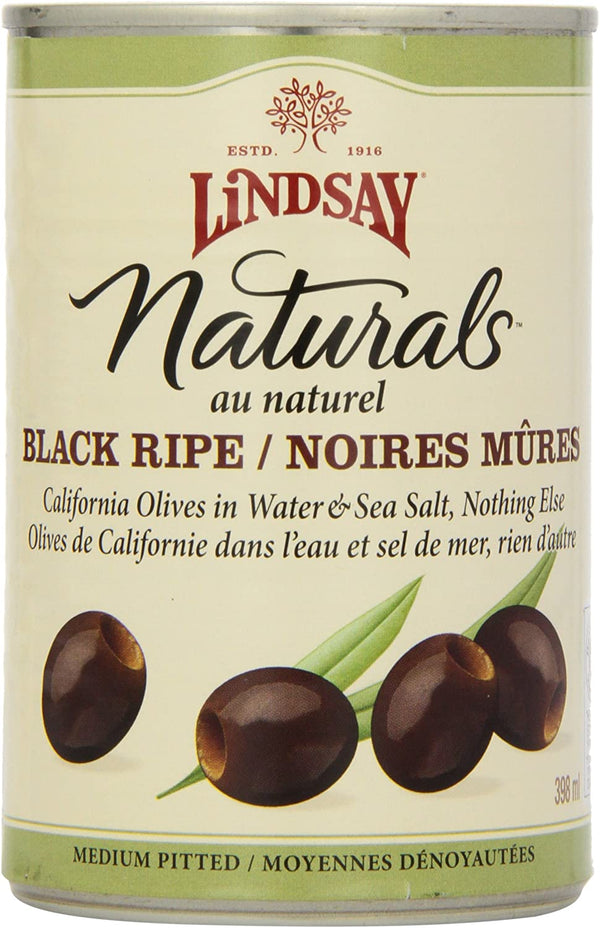 Lindsay Medium Black Pitted Olives 398ml 398ml