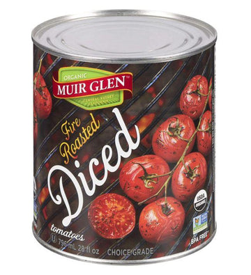 Diced Fire Roasted Tomatoes Organic 796ml