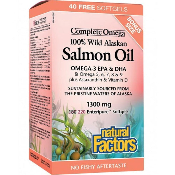 Natural Factors Bonus Wild Alaskan Salmon Oil 220c 220c