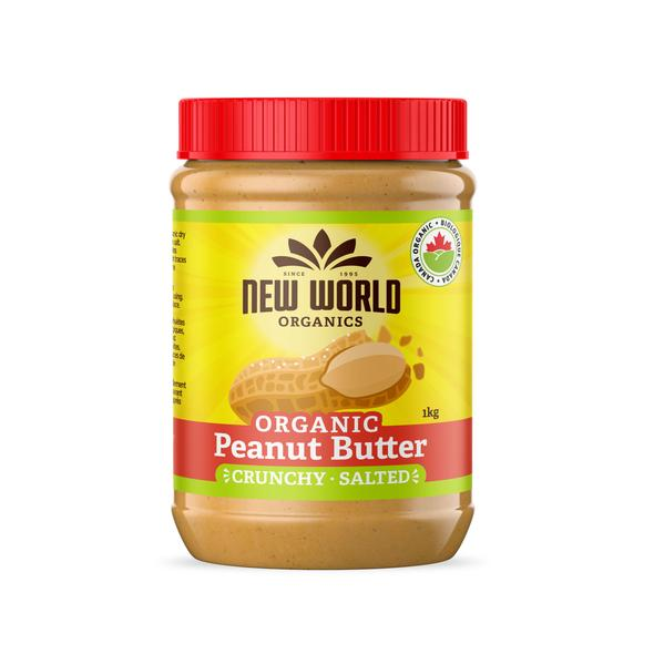 New World Peanut Butter Crunchy Salted Organic 1kg 1kg