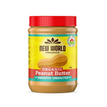 Peanut Butter Smooth Unsalted Organic 1kg