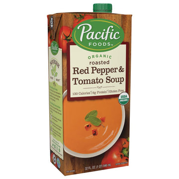 Creamy Roasted Red Pepper & Tomato Organic Soup 1L