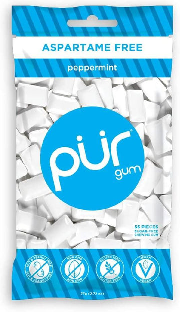 Peppermint Gum LG Bag 55 pieces