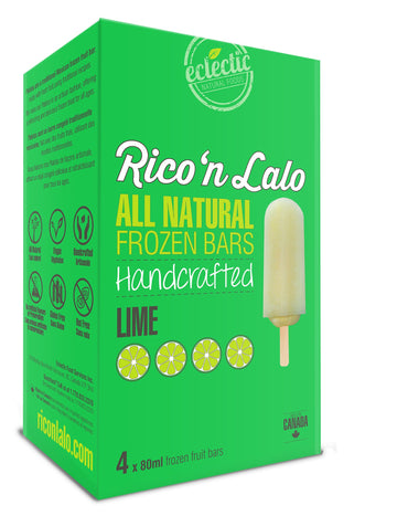 Lime Frozen Fruit Bars 4x80ml Bars