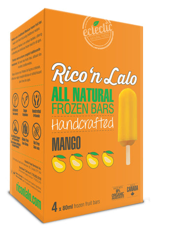 Mango Frozen Fruit Bars 4x80ml Bars